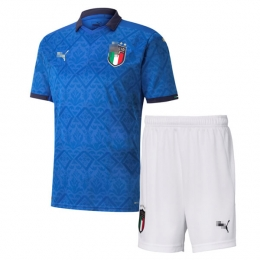 Camiseta Italia Primera Equipación 2020 Eurocopa Niño Kit
